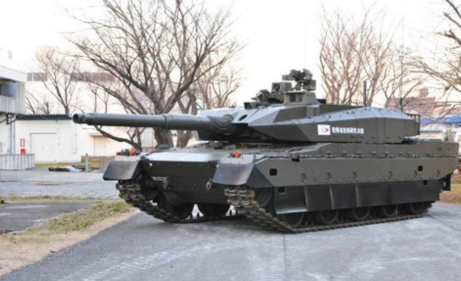 10式主战坦克图片:日本防卫省技术研究本部