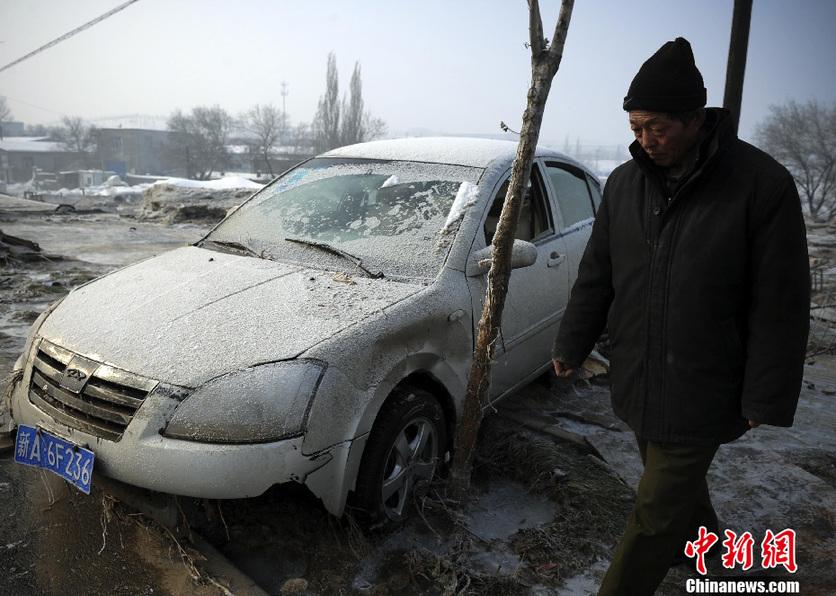 高清:新疆乌鲁木齐一水库发生溃坝事故